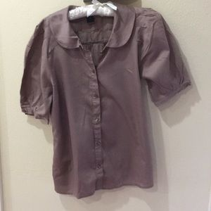 Polished cotton blouse